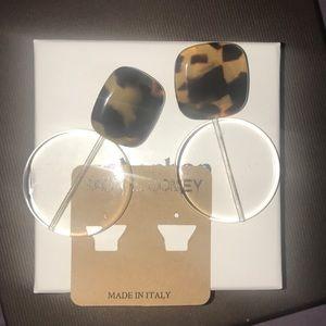 Rachel Comey tortoise arc earrings